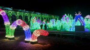 Световые инсталляции в Вилянувском замке