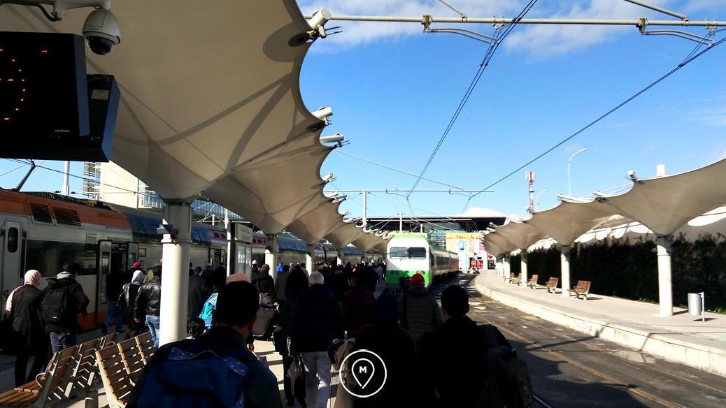 На железнодорожной станции в Касабланке