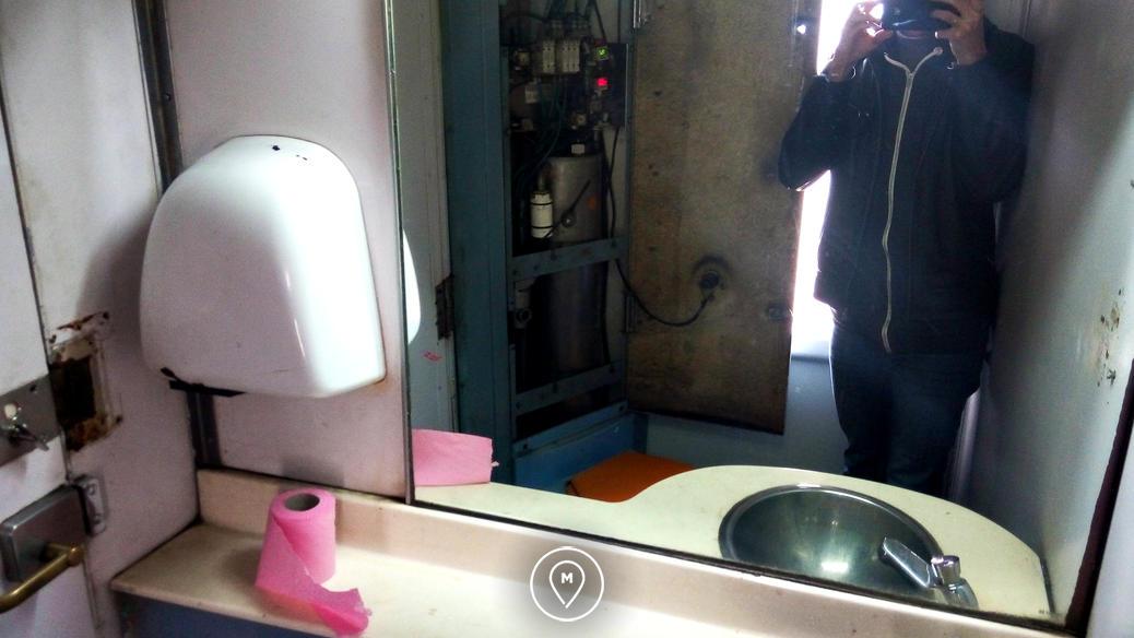Туалет в марокканском поезде