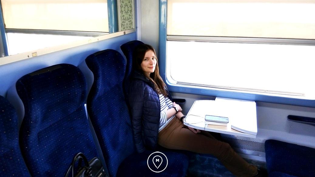 Вагон в марокканском поезде