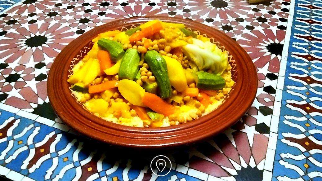 Национальное марокканское блюдо - кускус