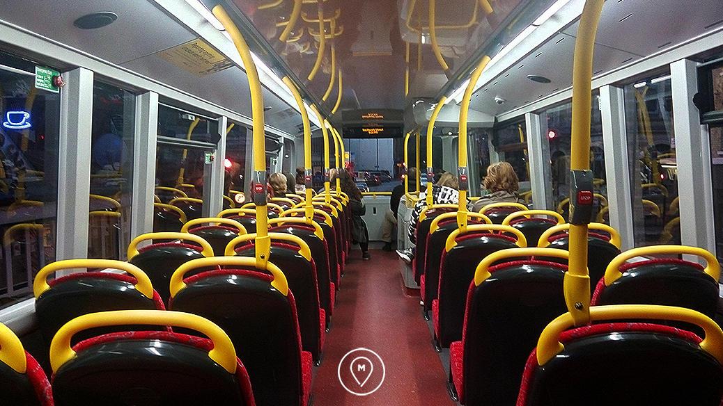 Лондонский автобус внутри