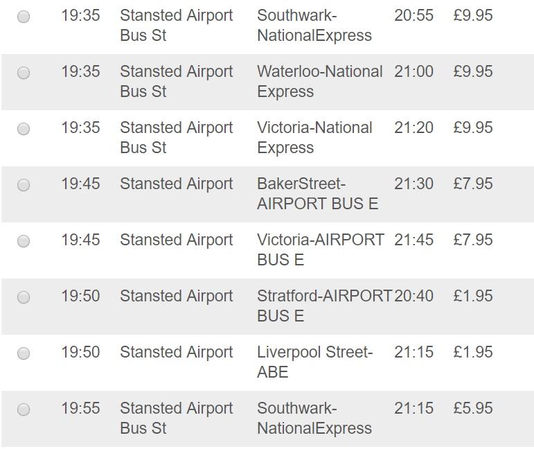 Как дешево добраться из аэропорта Станстед - автобусы EasyBus