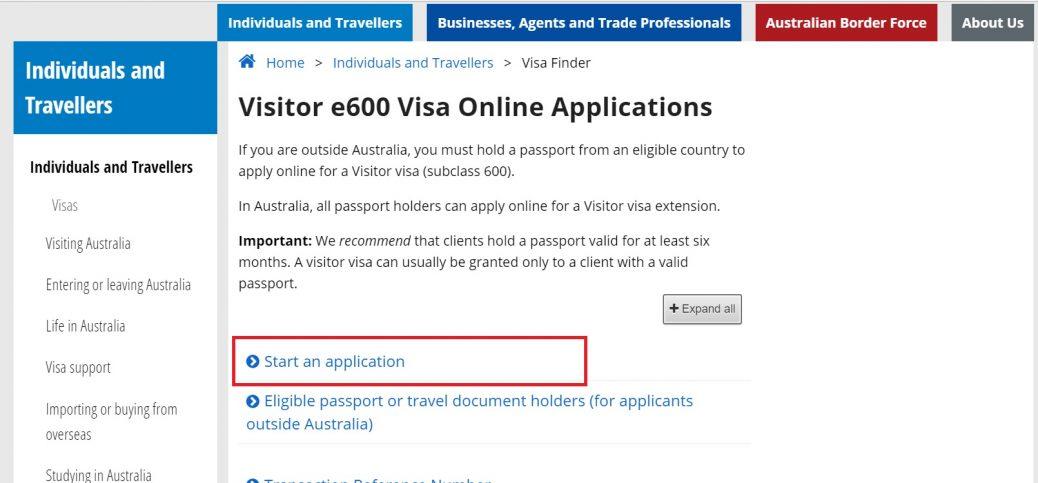 Виза Австралии онлайн 1