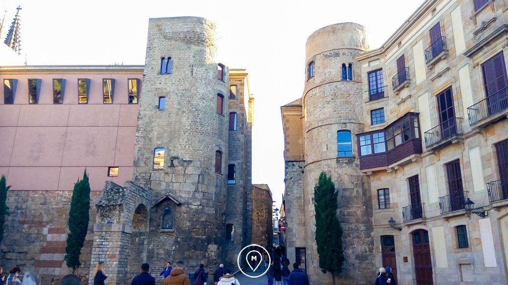 Остатки римской стены в Готическом квартале, Барселона