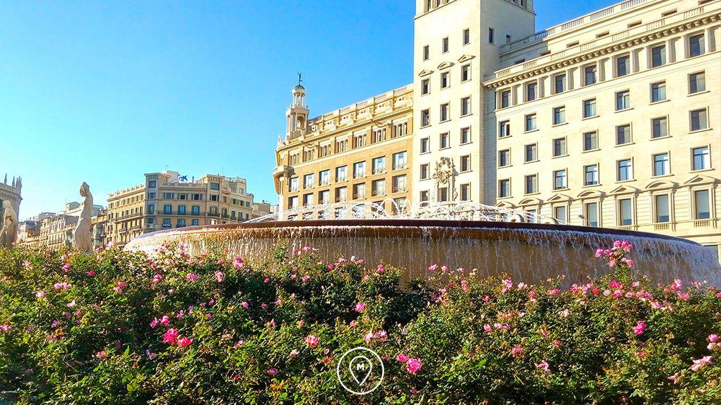Площадь Каталонии днем