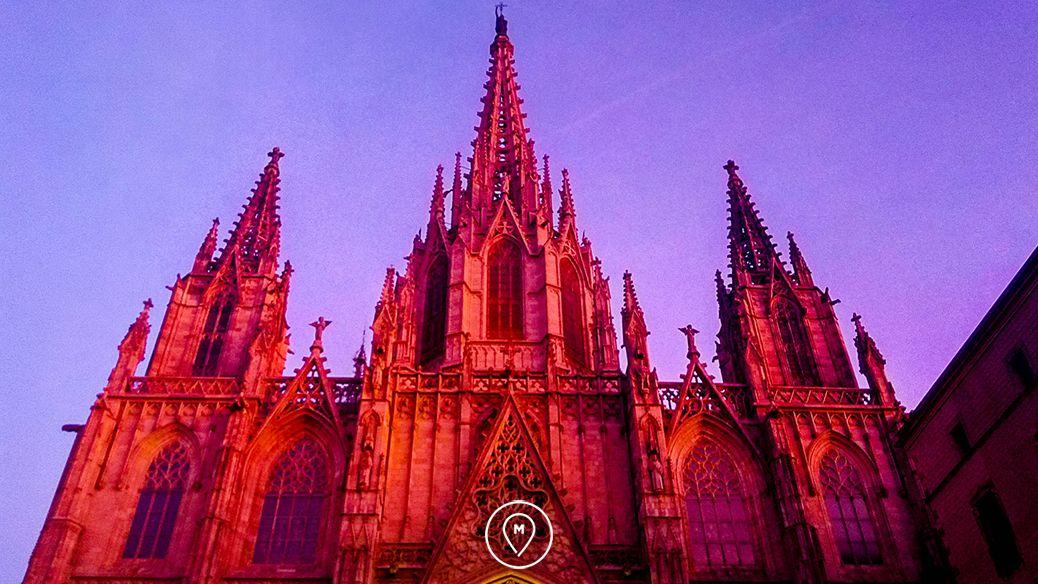 кафедральный собор Барселоны – Святого Креста и Святой Евлалии - детали постройки