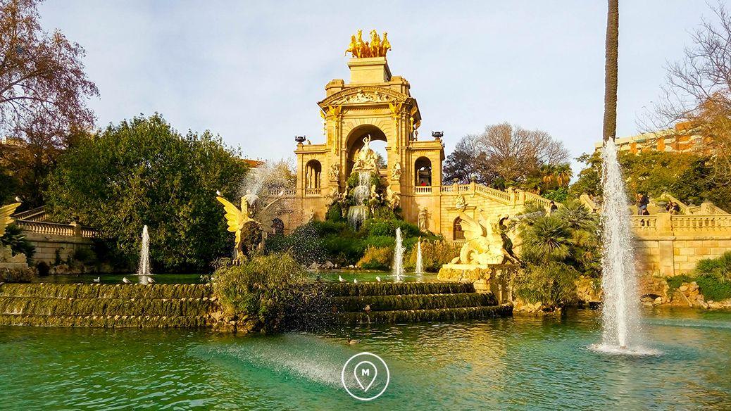 Фонтан Каскада в парке Цитадели в Барселоне