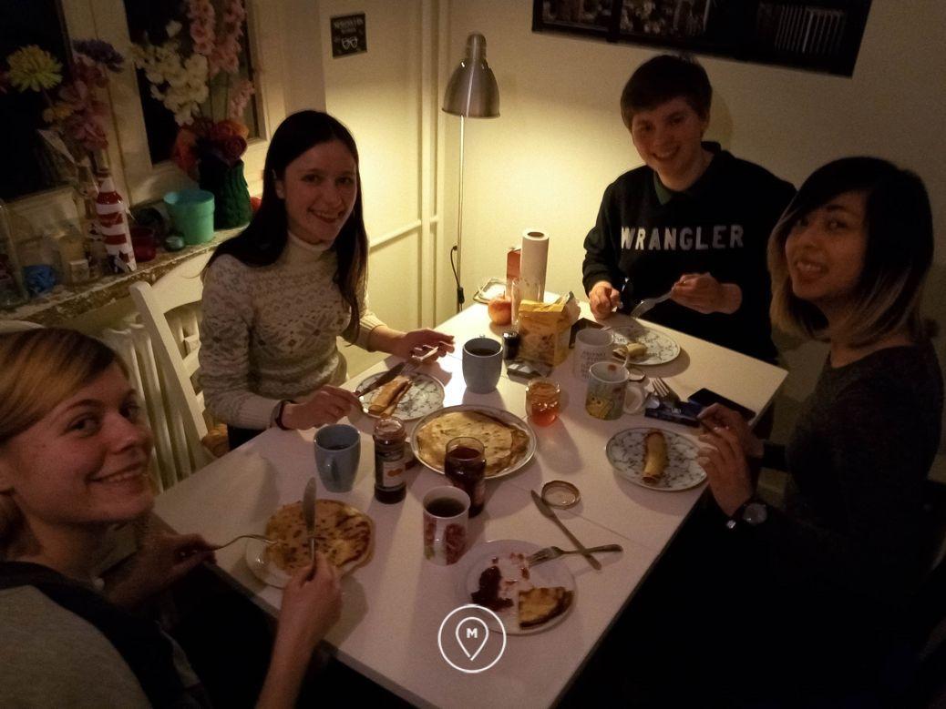 Совместная трапеза с нашими друзьями из Берлина