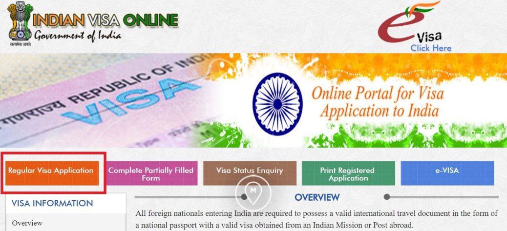 Анкета на индийскую визу 1