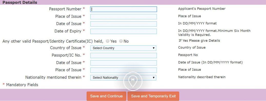 Анкета на индийскую визу 4
