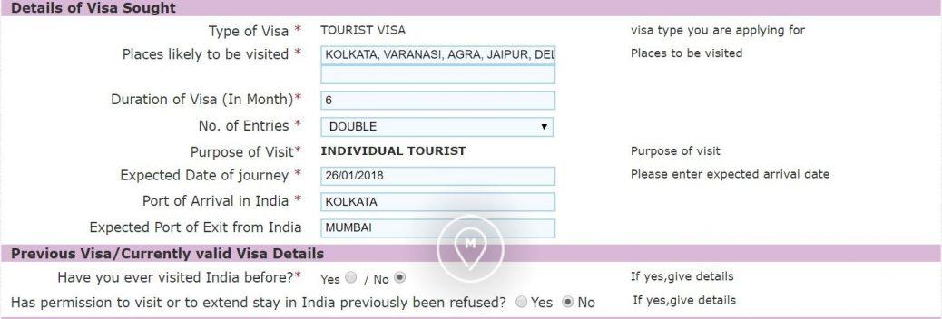 Анкета на индийскую визу 8