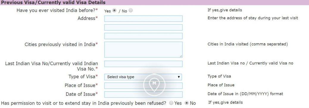 Анкета на индийскую визу 9